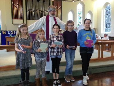 Children at St Mary's Church Woodford