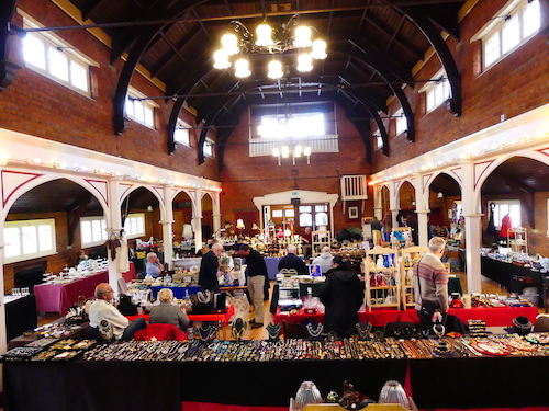 antiques fair in Roberts Hall